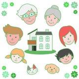 Família que cerca minha casa ilustração stock