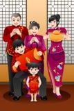 Família que comemora o ano novo chinês Fotos de Stock Royalty Free