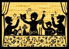 Família que comemora a páscoa judaica ilustração stock