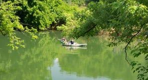 Família que Kayaking Foto de Stock