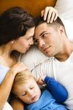 Família que relaxa. Fotos de Stock Royalty Free