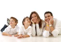 Família que relaxa Fotografia de Stock