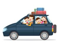 Família que viaja junto em férias ilustração do vetor