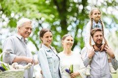 Família repousante Fotografia de Stock Royalty Free