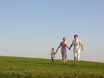 Família Running Imagem de Stock Royalty Free