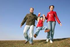 Família Running Fotos de Stock