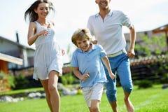 Família running Imagem de Stock