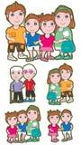 Família Set_eps ilustração royalty free