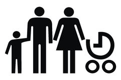Família, sinal Imagens de Stock
