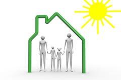Família sob o sol Imagem de Stock