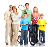 Família sportive feliz fotos de stock royalty free