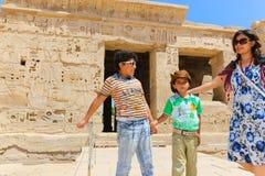 Família templo na cidade de Medinet Habu ou de Habu em Luxor fotos de stock royalty free