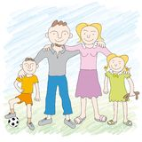 Família (vetor) Imagens de Stock