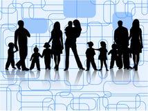 Famílias Imagem de Stock Royalty Free