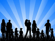 Famílias Imagens de Stock Royalty Free