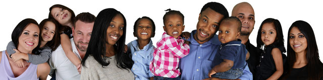 Famílias foto de stock royalty free