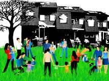 Famílias ilustração do vetor