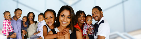 famílias fotografia de stock royalty free