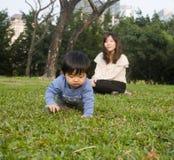 Famílias chinesas Fotografia de Stock Royalty Free