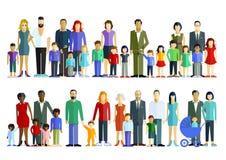 Famílias com crianças ilustração royalty free