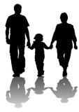 Famílias com uma filha Fotografia de Stock