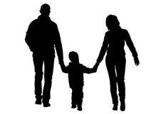 Famílias com uma uma criança ilustração stock