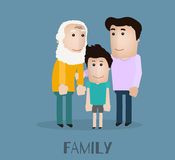 Famílias de tipos diferentes ilustração do vetor