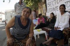 Famílias desapropriadas de roma (cigano) foto de stock royalty free