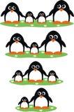 Famílias do pinguim ilustração stock