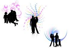 Famílias e sumário ilustração royalty free