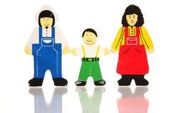 Famílias felizes imagem de stock