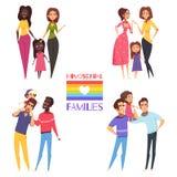 Famílias homossexuais ajustadas ilustração royalty free