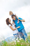 Famílias na natureza Fotografia de Stock Royalty Free