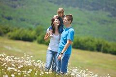 Famílias na natureza Fotos de Stock Royalty Free