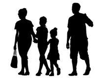 Famílias no feriado ilustração do vetor