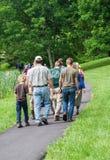 Famílias nos picos da lontra fotografia de stock royalty free