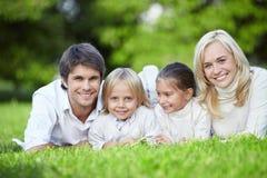 Famílias novas foto de stock