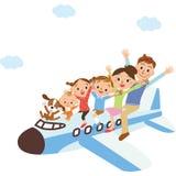 Famílias que montam um avião ilustração do vetor