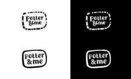 Fama del ½ di FunnÐ patern Logo nero dell'inchiostro di calligrafia La traccia dalle tazze Spazzola del giapponese Macchia, pista royalty illustrazione gratis
