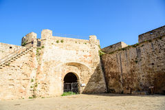 Famagusta city walls leading to Otello Stronghold, Northern Cypr Stock Photos