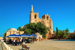 FAMAGUSTA, CYPRUS - OCTOBER 10, 2015: Lala Mustafa Pasha Mosque Royalty Free Stock Image