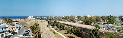 Famagusta old city panorama Stock Photo