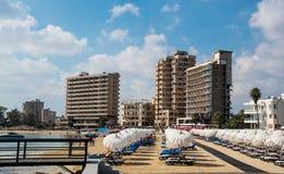 Famagustastrand Cyprus Royalty-vrije Stock Fotografie