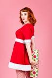 Famale Santa Fotografie Stock
