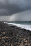 Famara beach, Lanzarote Royalty Free Stock Image