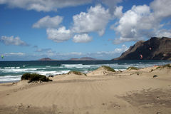 Famara beach,  Lanzarote Royalty Free Stock Photo