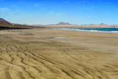 Famara beach, Lanzarote, Canary Islands, Spain Royalty Free Stock Photo