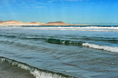 Famara beach, Lanzarote, Canary Islands, Spain Stock Images