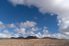 Famara masyw, Lanzarote wyspa, kanarek, Hiszpania zdjęcie royalty free