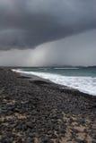 Famara Strand, Lanzarote lizenzfreies stockbild